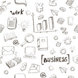 Business finance doodle hand drawn elements. Business finance doodle hand  drawn elements seamless pattern Stock Photography