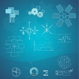 Business and finance elements. Hand-drawn Stock Images