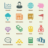 Business and finance elements. Vector infographic icons Stock Images
