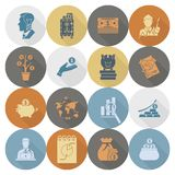 Business and Finance Icon Set. Business and Finance, Flat Icon Set. Simple and Minimalistic Style. Vector Stock Photos