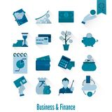 Business and Finance Icon Set. Business and Finance, Flat Icon Set. Simple and Minimalistic Style. Vector Stock Images
