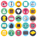 Business and Finance Flat Icon Set Royalty Free Stock Images