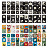Business, finance flat icons. Business or finance flat application icon set over white background Stock Images