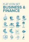 Business & Finance Flat Icons royalty free illustration