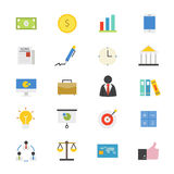 Business and Finance Flat Icons color. This is graphics vector Illustration icons Royalty Free Stock Photos