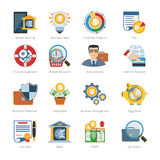 Business And Finance Flat Icons. Set. Business Icons Vector set Royalty Free Stock Photo