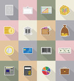 Business and finance flat icons vector illustration Royalty Free Stock Image