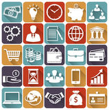 Business and finance flat icons. Vector set. Stock Photography