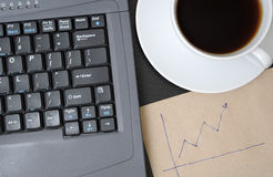 Business finance graphs Stock Images