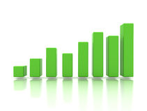 Business finance green graph. Eco progress Stock Photos