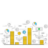 Business finance and growth concept Stock Photo