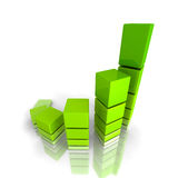 Business Finance Growth Graph Chart. 3d Render Illustration Stock Image