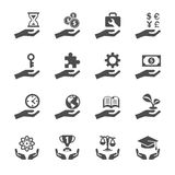 Business and finance hand icon set 2, vector eps10 Stock Image