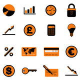 Business finance icon Royalty Free Stock Photo