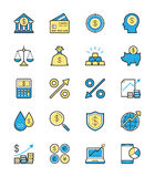 Business Finance icon, Monochrome color - Vector Illustration Stock Photography
