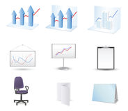 Business and finance icon set. Vector illustration Royalty Free Stock Photography