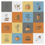 Business and Finance Icon Set. Business and Finance, Flat Icon Set. Simple and Minimalistic Style. Vector Stock Image