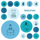 Business and Finance Icon Set. Business and Finance, Flat Icon Set. Simple and Minimalistic Style. Vector Royalty Free Stock Photography