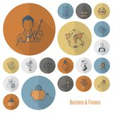 Business and Finance Icon Set. Business and Finance, Flat Icon Set. Simple and Minimalistic Style. Vector Stock Photo
