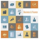 Business and Finance Icon Set Royalty Free Stock Images