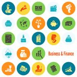 Business and Finance Icon Set. Business and Finance, Flat Icon Set. Simple and Minimalistic Style. Vector Royalty Free Stock Photo