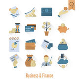 Business and Finance Icon Set Royalty Free Stock Image