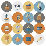 Business and Finance Icon Set Stock Images