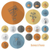 Business and Finance Icon Set. Business and Finance, Flat Icon Set. Simple and Minimalistic Style. Vector stock illustration