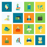 Business and Finance Icon Set Royalty Free Stock Photos