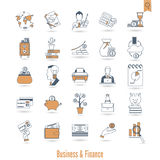 Business and Finance Icon Set Royalty Free Stock Photography