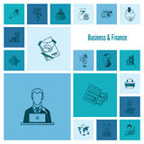 Business and Finance Icon Set Stock Photos