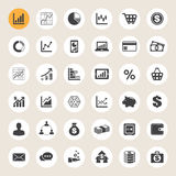 Business and finance icon set. Illustration eps10 Royalty Free Stock Photography