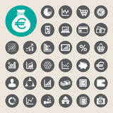 Business and finance icon set. Illustration eps10 Royalty Free Stock Photo