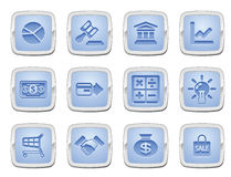 Business and finance icon set. Illustration of a set of business and finance internet icons Royalty Free Stock Image