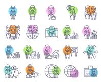 Business and finance icon set-  sign and symbol royalty free illustration