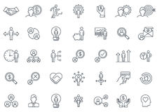 Business and finance icon set Stock Photography