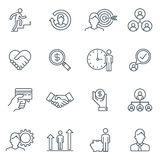 Business and finance icon set Royalty Free Stock Photo
