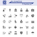 Business And Finance Icon Set. Universal Business And Finance Icons Royalty Free Stock Photography