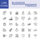 Business And Finance Icon Set. Universal Business And Finance Icons Stock Photos