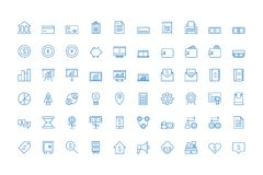 Business and finance icon set vector collections. Suitable with your content, fully editable vector isolated Stock Images