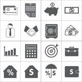 Business and Finance icon set. Vector. Business and Finance icon set  on white background. Symbols for banking and commerce. Vector illustration Royalty Free Stock Photography