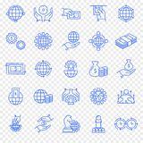 Business and Finance Icon set. 25 icon. 25 Icon set for Website and Application stock illustration