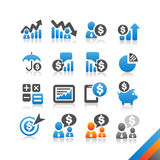 Business Finance icon  - Simplicity Series. Three color version icons Stock Images