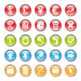 Business and finance icons Royalty Free Stock Photos