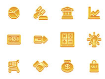 Business and finance icons. Illustration of a set of business and finance internet icons Stock Photo