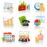 Business and finance icons Stock Image