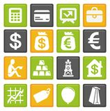 Business and finance icons. Vector set with business and finance icons Stock Image