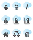 Business and Finance Icons. Set in two colors Stock Photography