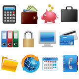 Business and Finance Icons Stock Photo