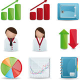 Business & Finance Icons. Business & Finance color Icons set Royalty Free Stock Photo